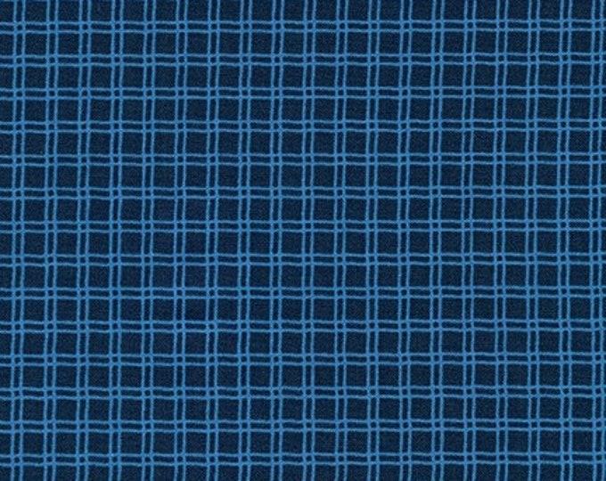Robert Kaufman Fabric - Campsite Critters - Lake Plaid Cotton Woven Fabric
