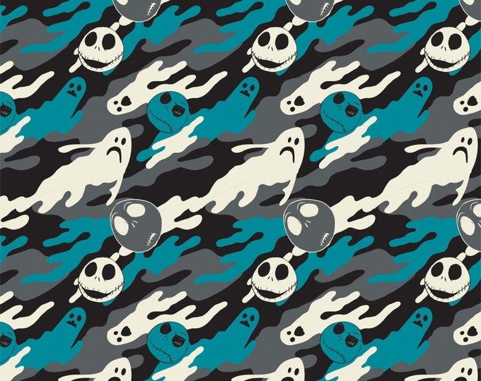 Camelot Fabrics - Jack is Back (Nightmare Before Christmas) -  Ghostly - Blue - Cotton Woven Fabric