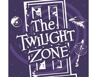 Camelot Fabrics - CBS Television City - Multi The Twilight Zone 36in Panel #63520102PR-1 - Licensed  Glow in the Dark Cotton Woven Fabric