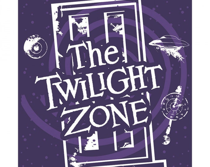 Camelot Fabrics - CBS Television City - Multi The Twilight Zone 36in Panel #63520102PR-1 - Licensed  Glow in the Dark Cotton Woven Fabric