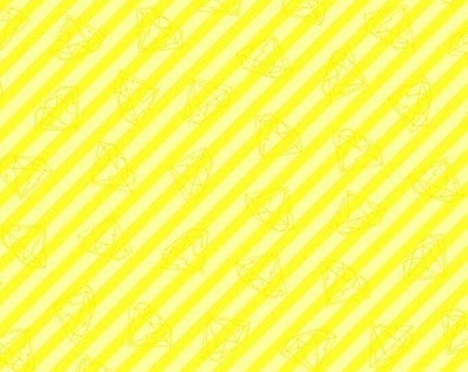 Andover Fabrics - Tattooed by Libs Elliott -  Yellow Gem Stripe  A-8441-MY Cotton Woven Fabric
