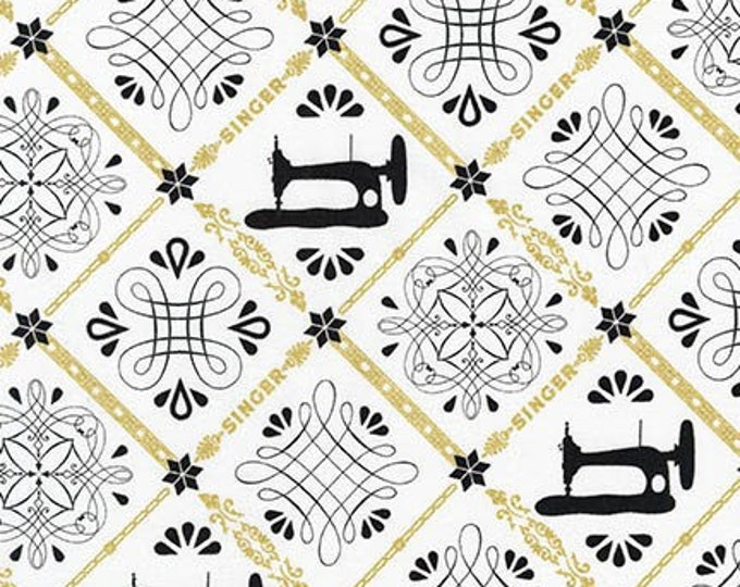 Images in Diamonds Ivory AGZM-17021-15  - Sewing with Singer by Robert Kaufman Fabrics