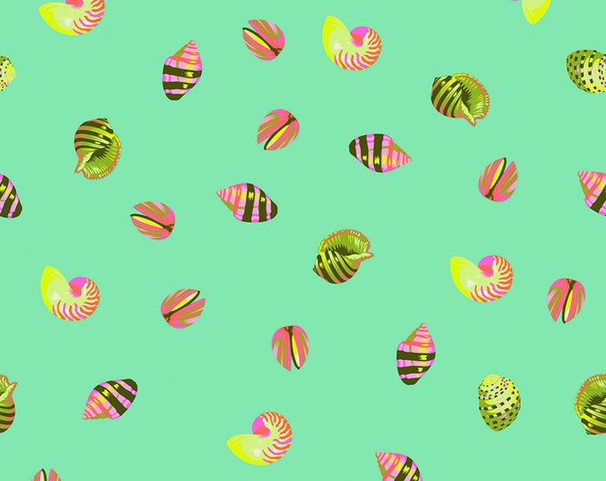 Tula Pink - Zuma - Sea Shells - Seaglass    PWTP121-SEAG Cotton Woven Fabric