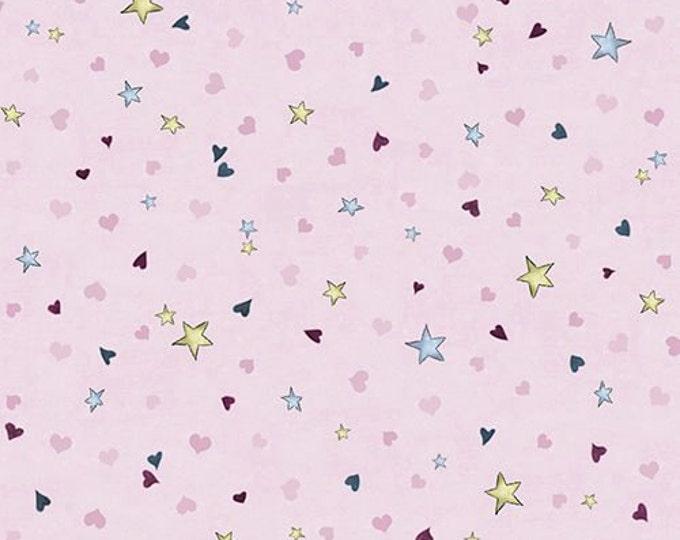Light Plum Tiny Stars and Hearts Cotton Woven, Santoro Gorjuss, Rainbow Dreams