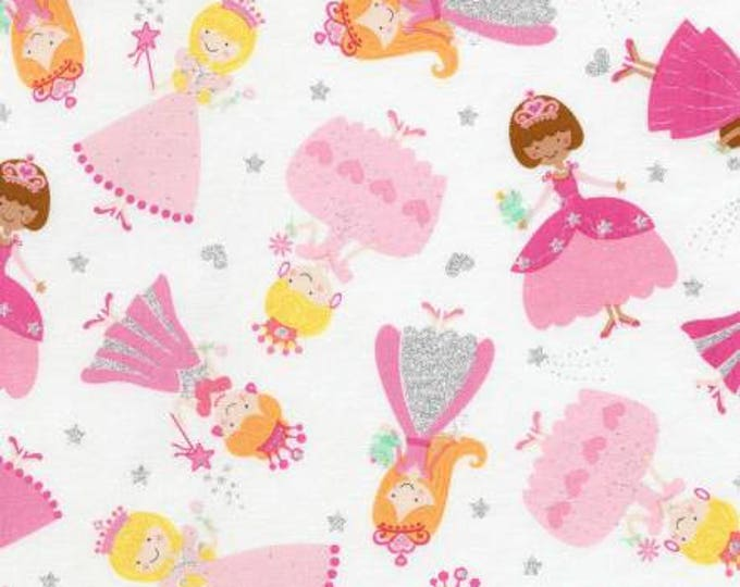 Timeless Treasures - Once Upon a Time - Princess Metallic cotton woven fabric