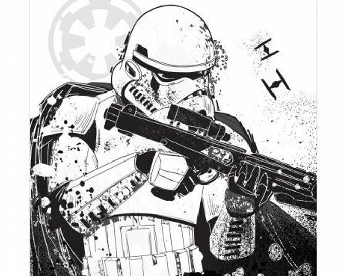Camelot - Star Wars - Storm Trooper 36 Inch - Cotton Woven Fabric Panel