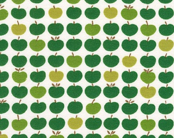 Robert Kaufman Fabrics - Laguna Jersey Prints -  Green Apples Cotton Lycra Knit
