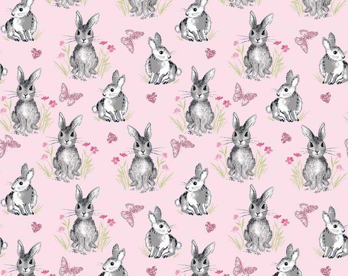 Pretty Bunnies Novelty Pink C9005-PINK - The RBD Designers for Riley Blake Fabrics