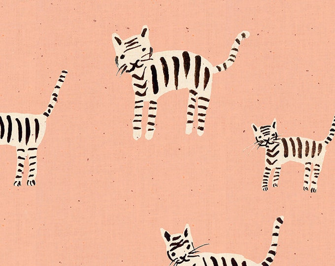 Moda Fabrics - Darlings by Ruby Star Society -  Tiger Stripes Warm Pink RS5021 16 - Cotton Woven Fabric