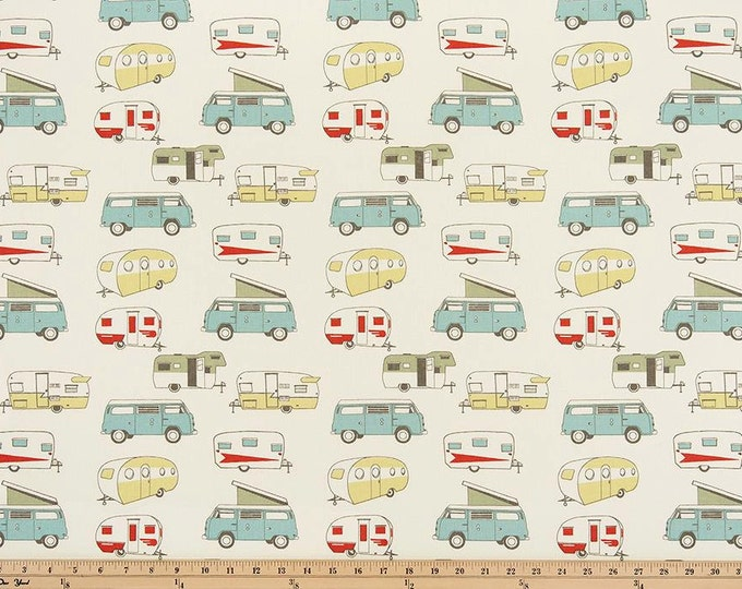 Vintage Camper Formica 100% Cotton Woven Fabric, 53/54 Inches wide