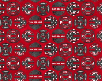 Blank Quilting -  Thin Red Line - Maltese Cross 9322-88 Cotton Woven Fabric