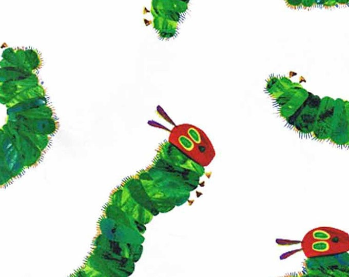 Andover Fabrics - Licensed The Very Hungry Caterpillar by Eric Carle - Large Caterpillars  A-5281-M Cotton Woven Fabric