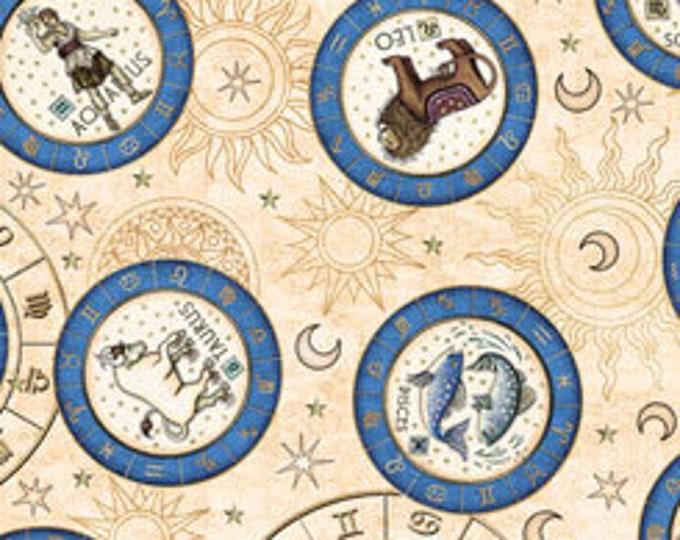 Quilting Treasures Fabrics - Intergalactic by Dan Morris - Zodiac Medallions - Cream - Cotton Woven Fabric
