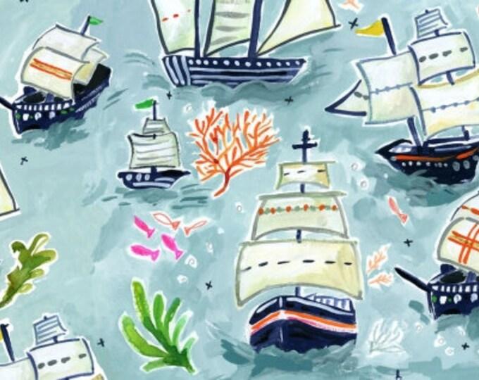 Dear Stella - High Seas by August Wren - Sail Ships Stella-DAW1363-Multi - Cotton Woven Fabric