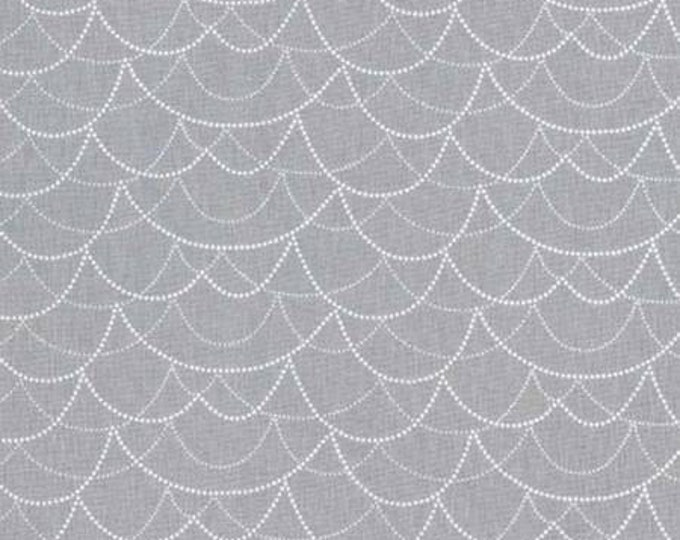 Rustique Winter, Silver Garland cotton woven fabric by Michael Miller Fabrics