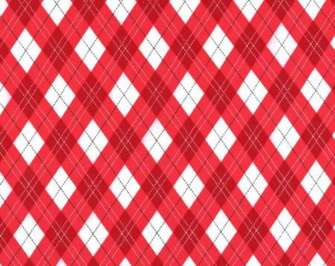 Michael Miller Fabrics - Rustique Winter -  Red Gift Wrap cotton woven fabric