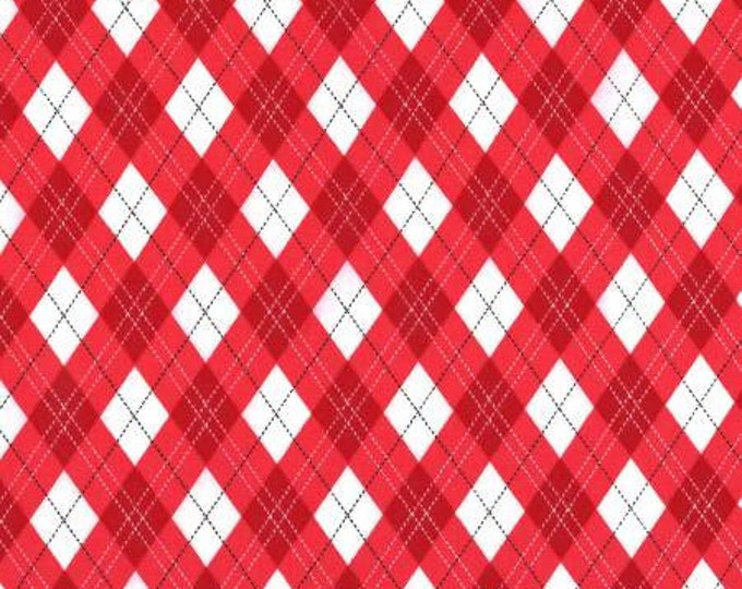 Rustique Winter, Red Gift Wrap cotton woven fabric by Michael Miller Fabrics
