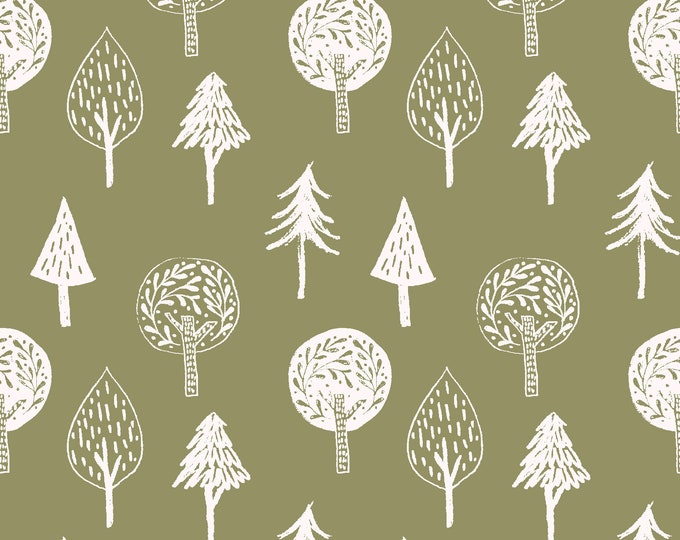 Fabric Editions  - Little Thicket - Trees Cotton Woven Fabric #14525-GREEN