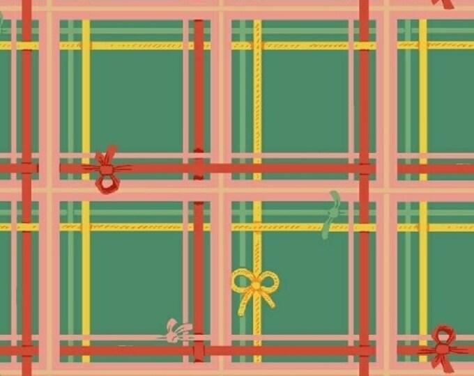 Windham Fabrics - Sugar Plum by Heather Ross - Plaid - Spruce - Cotton Woven Fabric