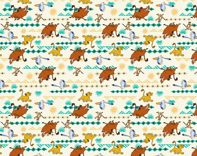 Disney Springs Creative - Lion King Simba Geo # 671173890715  Licensed Cotton Woven Fabric