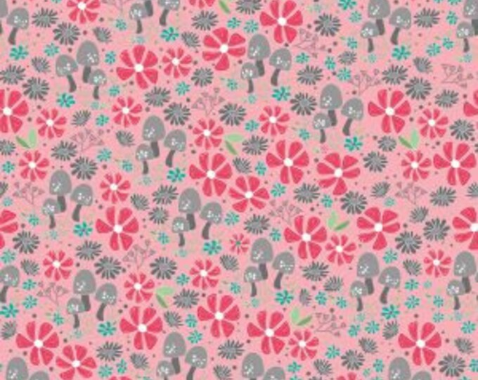 Riley Blake Fabrics - Flora and Fawn, Flora Garden Pink cotton woven fabric