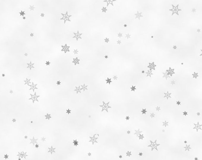 Tiny Snowflakes Grey Cotton Woven - 6934-9 -Holiday Wishes by Henry Glass & Co, Inc
