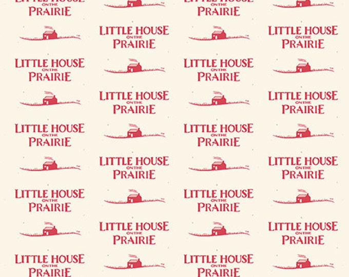Andover Fabrics - Little House on the Prairie -  Red Logo Cotton Woven Fabric