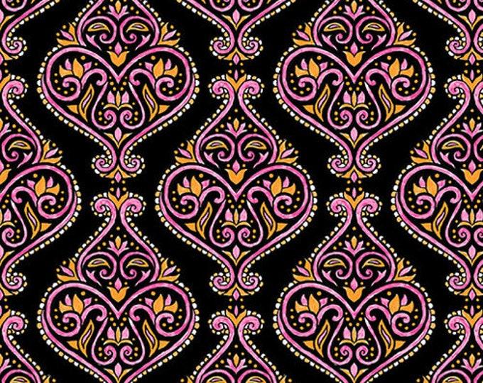 Blank Quilting - Mandala Tango - Black Damask #9653-99 Cotton Woven Fabric