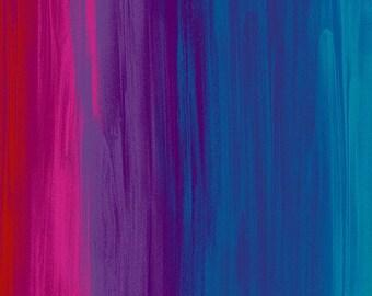 Timeless Treasures - Full Heart Rainbow Stripe heart-CD6663-Rainbow Cotton Woven