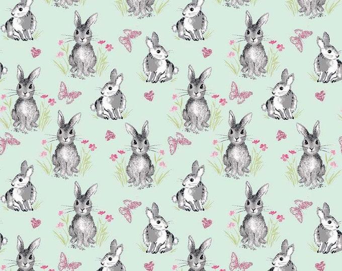 Pretty Bunnies Novelty Mint C9005-MINT - The RBD Designers for Riley Blake Fabrics