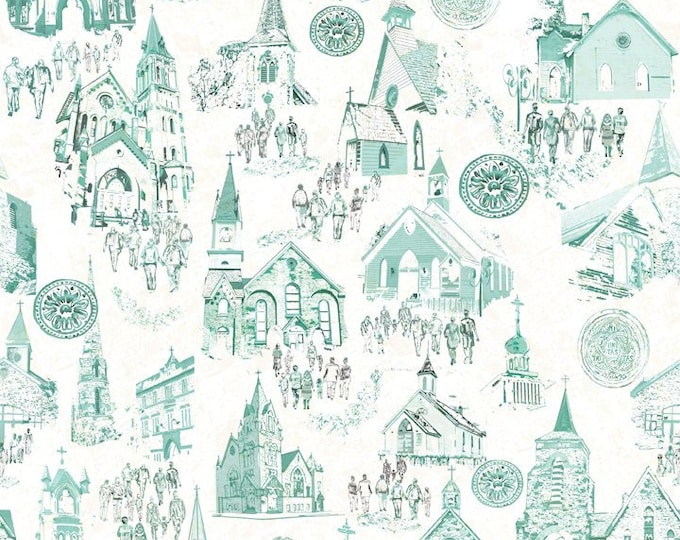 In The Beginning Fabrics - Believe by Peggy Brown - 5pbb_1 Cotton Woven Digitally Printed Fabric