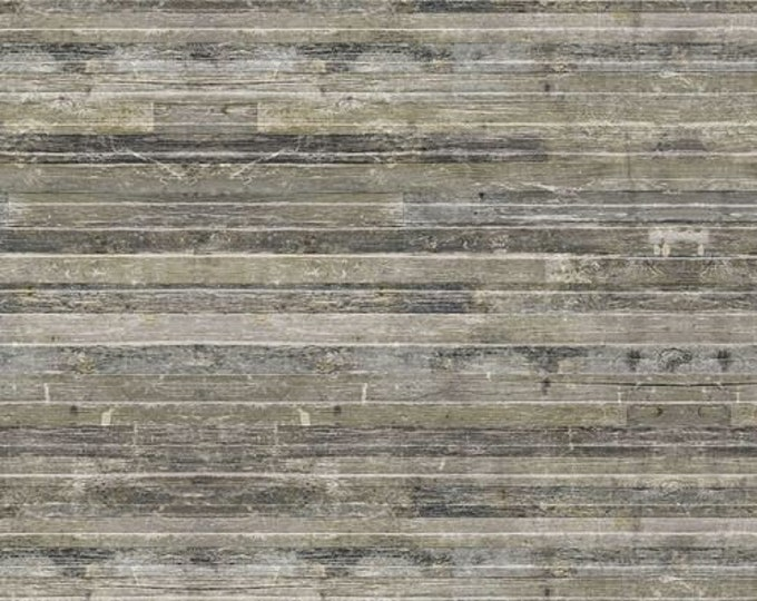 Free Spirit - Eclectic Elements - Yuletide by Tim Holtz - Birch Planks Neutral PWTH122.NEUTRAL- Cotton Woven Fabric
