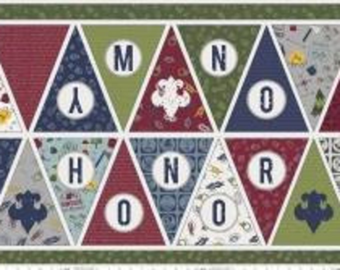 "Riley Blake Fabric - Licensed Boy Scouts of America - On My Honor Banner  (24"" x 43"") Cotton Woven Fabric"