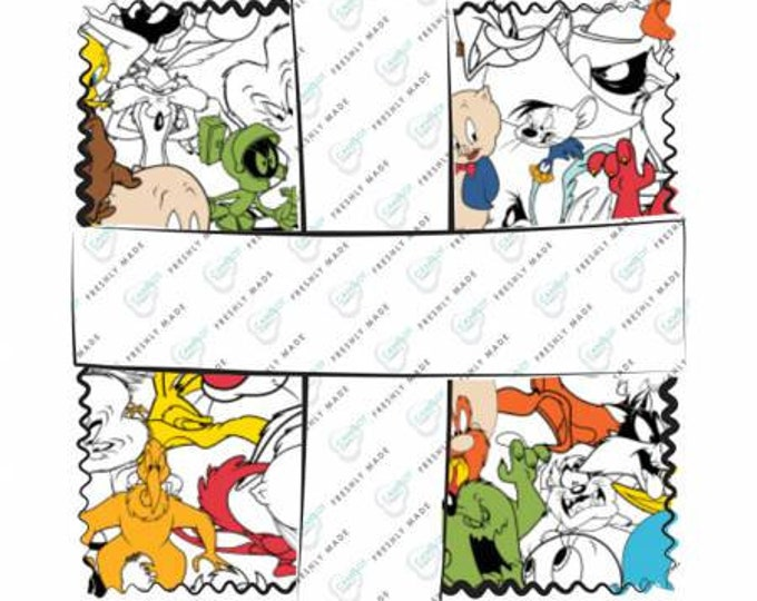Looney Tunes - 42 Piece 5 Inch Squares - Cotton Woven Fabric