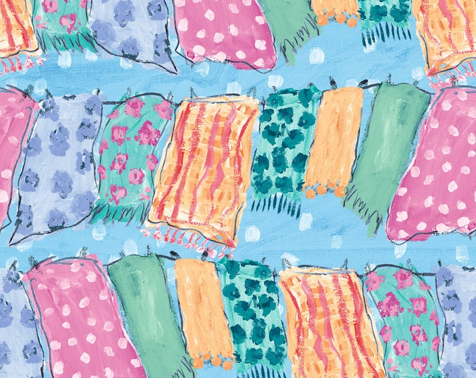 Blank Quilting - Udder Chaos by Kait Roberts - Clothesline 9883-70 - Cotton Woven Fabric