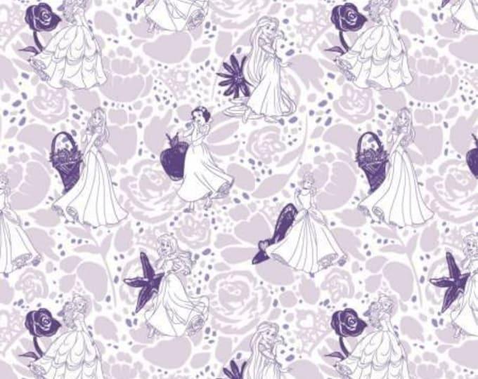 Disney's Princess Purple Lines Cotton Woven, Camelot Fabrics