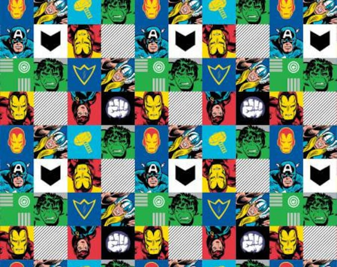 Marvel - Heroes - Multi - Cotton Woven Fabric