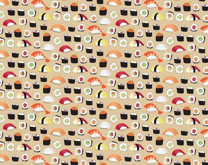 Northcott Fabrics - Sushi - Sushi on Beige 22365-12 Cotton Woven Fabric