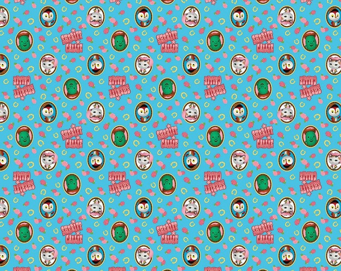 Springs Creative - Sheriff Callie Badges on blue Cotton Woven Fabric - Priced per yard