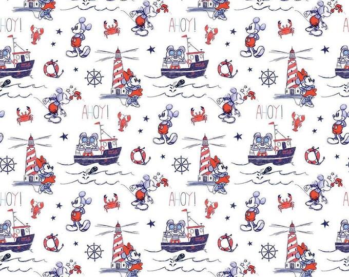 Springs Creative Mickey & Minnie Ahoy Cotton Woven Fabric
