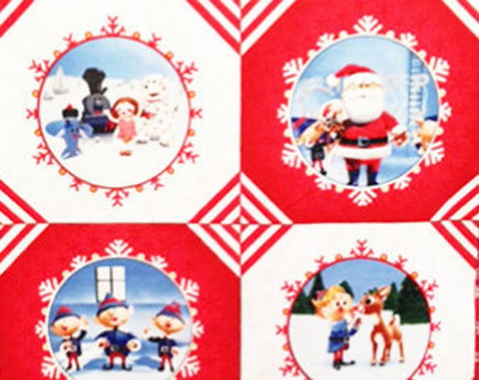 Quilting Treasures - Rudolph 50 Years Celebration - Panel Cotton Woven Fabric