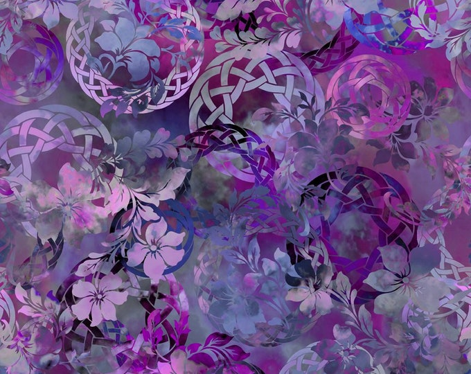 Diaphanous - Purple - Cotton Woven Fabric by Jason Yenter for In the Beginning Fabrics 3ENC-3