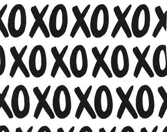 Michael Miller - Glam Girls - XOXO - Coal - Cotton Woven Fabric