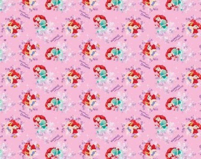 Springs Creative - Disney - Little Mermaid - Discover Your Dreams - Cotton Woven Fabric