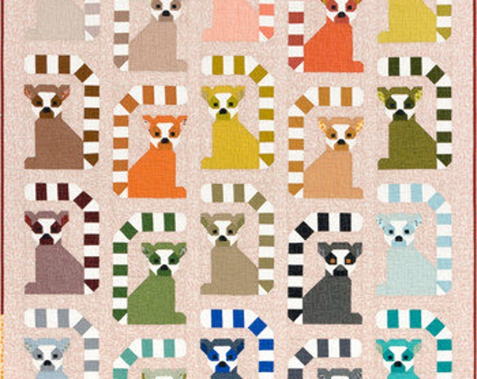 Quilt Kit - KITP-1920-7 Lana Lemur by Elizabeth Hartman featuring Adventure (to make top and binding 64 x 76)