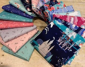 Riley Blake - My Unicorn by Kelly Panacci -10 Inch Squares, 42 Pieces Per Bundle #10-8200-42 Cotton Woven Fabric