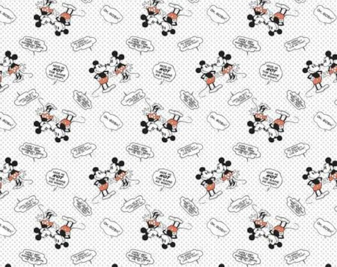 Disney - Mickey Mouse Nice is Not the Same as Wimpy -  Cotton Woven by Springs Creative