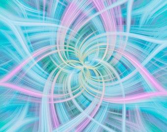 "Hoffman Fabrics - Dream Big Dance by Jeanie Sumrall-Ajero - 43"" Panel - R4658-132-Opal - Cotton Woven Fabric"