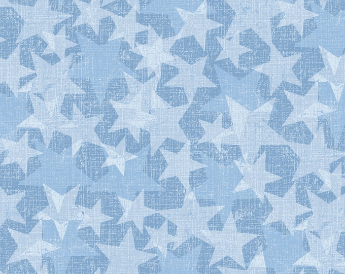 Road Trip by All American Road Trip - Stars - Blue - Cotton Woven Fabric - Studio E - 4319-11