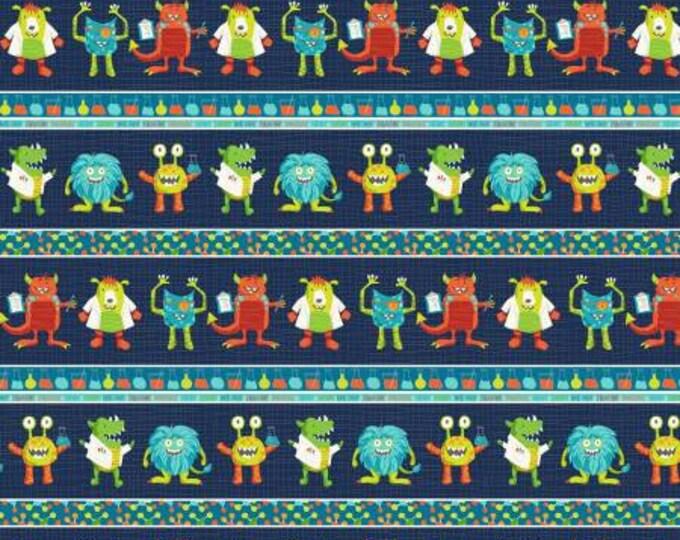 StudioE Fabrics - Monster Lab - Monster Stripe #4434S-77 Cotton Woven Fabric